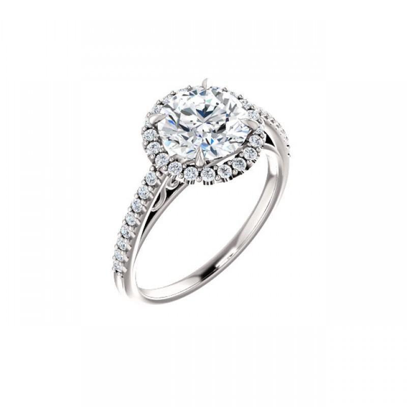 Isabella Diamond Halo Engagement Ring