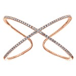 14k Pink Gold Diamond Bangle