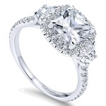 ER9189 14k Gold Diamond Halo Engagement Ring