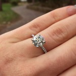 Petite Sparkle Diamond Engagement Ring