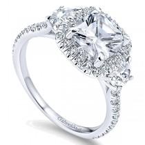 ER9189 14k Gold Diamond Halo Engagement Ring