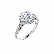 Isabella Diamond Halo Engagement Ring