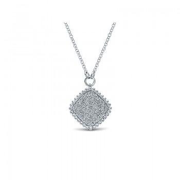 Gaby Necklace 14k White Gold Diamond Fashion