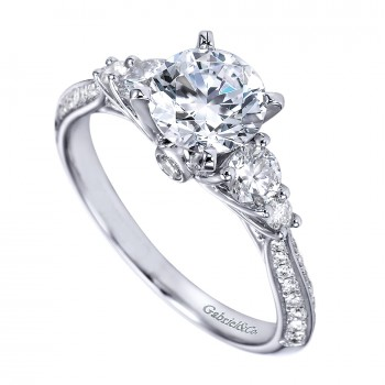 ER7539W44JJ 3 Stone Engagement Ring