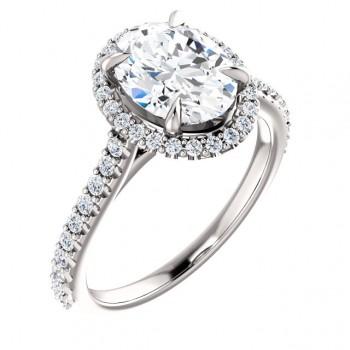 Sabrina Diamond Halo Engagement Ring